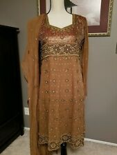 Indian Brown Anarkali Salwar Kameez Suit