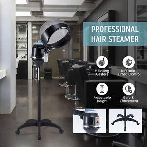 Professional Hair Steamer w Rolling Base Hooded Hair Treatment Machine for Salon