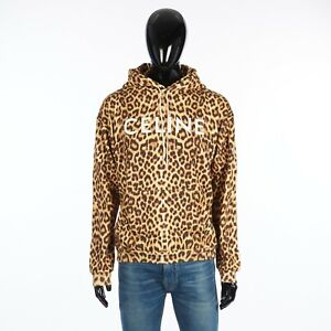 CELINE 970$ Loose Sweatshirt With Celine Print In Leopard Cotton