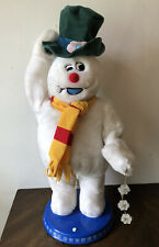 """Frosty The Snowman Singing Dancing 20"""" Hat Rare Gemmy Snowflake"""
