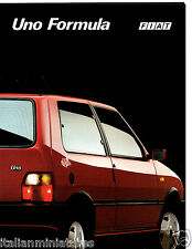 Fiat Uno Formule 1.4 ie Turbo D 1992 catalogue italien brochure Comme neuf CONDITION
