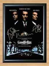 Gangster Henry Hill Goodfellas De Niro Signed Autographed A4 Poster Print Photo
