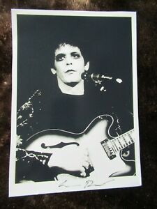 LOU REED Hand Signed Photograph