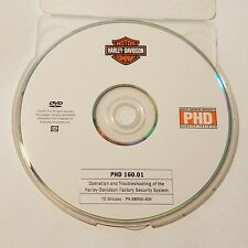 Official Harley-Davidson service training PHD DVD 160.01 Factory Security System