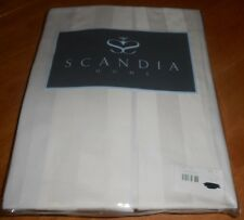 Scandia Home Style G811 15 02 Ivory Tailored Bed Skirt Full Size Sateen Stripe