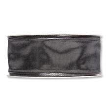 Dark Grey Fabric Ribbon 1.5 Inch Wide Full 27yd Roll Taffeta Satin