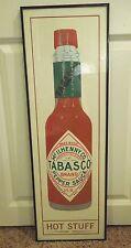 Tabasco Brand Pepper Sauce Hot Stuff With Metallic Poster Print in Black Frame