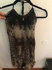 Unmarked Sherri Hill Silk Halter Top Hi-Low Dress Size 2