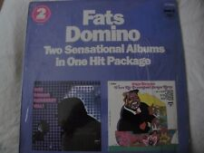 FATS DOMINO TWO SENSATIONAL ALBUMS BLUEBERRY HILL/ WHEN MY DREAMBOAT COMES HOME