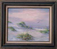 Original ADAMSON Oil Painting  Signed Framed Beach Seascape Ocean