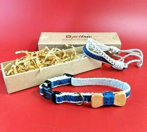 Matching Dog Collar Bow Tie  Owner Friendship Bracelet, Adjustable Size X-Small