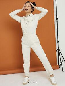 George Bnwt G21 Cream Collared Boilersuit Jumpsuit Size 14