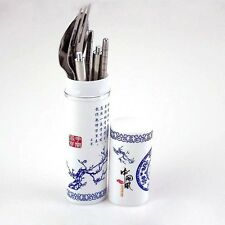 Stainless Steel Fork Chopsticks Boxed Spoon Set Portable Cutlery Send By Random