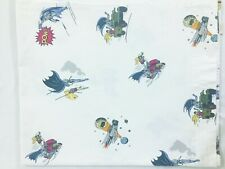Pottery Barn Kids Batman Robin POW Action Full Flat Sheet 100% Cotton