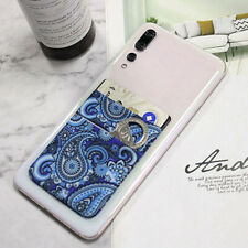 Cell Phone Double Layer Credit Card Holder Pocket Adhesive Sticker @pa IvLdE eka