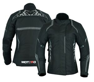 Motero Ladies Women Motorcycle Waterproof Windproof CE Armoured Cordura Jacket