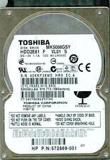TOSHIBA SATA 500GB MK5056GSY P/N: HDD2E61 F VL01 S
