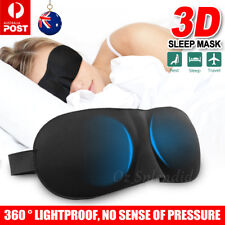 Travel Air Relax Rest Sleeping Blindfold 3D Memory Foam Padded Sleep Eyes Mask