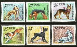 Germany (East) DDR GDR 1976 MNH Domestic Dogs Boxer Collie Terrier Great Dane