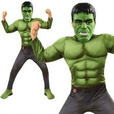 Official Marvel Hulk Costume - Kids Avengers Fancy Dress For Book Week Boys