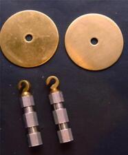 * ref14/1: Pair Vienna regulator weight hooks and tops