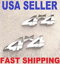 2X Chrome 4 X 4 EMBLEM BLUE BIRD BUS truck WORKHORSE RV SIGN thomas logo BADGE