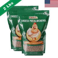 2 lbs Bulk Dried Mealworms NON GMO Organic - Fish Bluebirds Chickens Gliders Hen