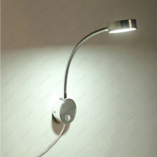 Flexible Pipe 5W LED Light Picture Wall Sconce Lamp Button+Plug Reading Lighting