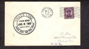 SS Santa Rosa Maiden Voyage, Grace Line, January 6 1933 Cristobal Canal Zone