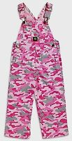 John Deere Girl's (Choose Size) Bib Coveralls Pink Camouflage Authentic Logo NWT