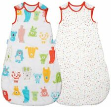 Grobag 1.0 + 2.5 Tog Day & Night TWIN PACK Spotty Bear 0 6, 6 18, 18 36 months