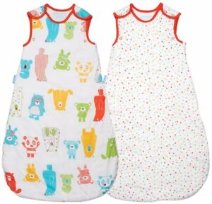 Grobag 1.0 Tog  W & W TWIN PACK Spotty Bear 0 6, 6 18, 18 36 months Sleeping Bag