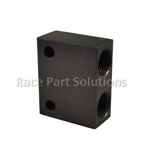 Race Part Solutions Fuel Distribution Y Block with -8 Fittings BLACK