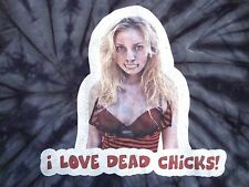 """""""I Love Dead Chicks!"""" Hot Zombie Girl Hipster Tie-Dye Sexy T Shirt M"""