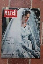 Paris Match N° 431 1957 Henri de France Frédéric Mistral Cocteau Algérie Mr K