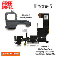 Replacement Lightning/Charging Dock/Port Assembly+Loudspeaker For iPhone 5 BLACK