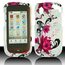 White Purple Flowers HARD Protector Case Snap on Phone Cover for Pantech Hotshot