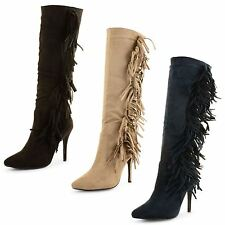 Faux Suede Zip Stiletto Casual Boots for Women