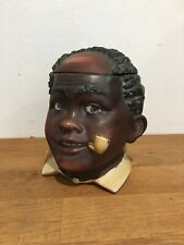 Beautiful Ceramic Head Tobacco Jar