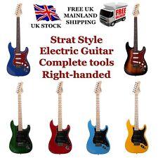 More details for glarry strat-styled electric guitar set black bag+tool+pick+lead+strap uk stock