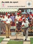 FICHE CARD Le Lancer de Fers à Cheval Horseshoes Game Sport 70s