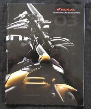 2003 HONDA DEALER STREET MOTORCYCLE ACCESSORIES CATALOG GOLD WING VTX1800 SHADOW