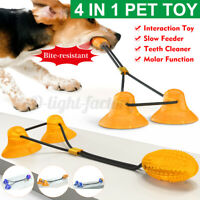 Pet Double Suction Cup Dog Toy Molar Bite Resistant Teeth Cleaning Chew Ball
