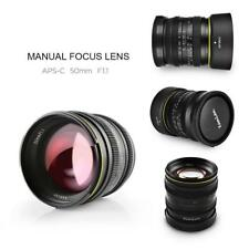 Kamlan 50mm F/1.1 Manual Focus Lens Aperture for Sony E-mount  Mirrorless Camera