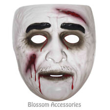 A970 Transparent Zombie Adult Mask Halloween Horror Walk Dead Costume Accessory