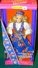 1995 Norwegian Norway Collector Edition Barbie Dolls of the World Dotw 14450