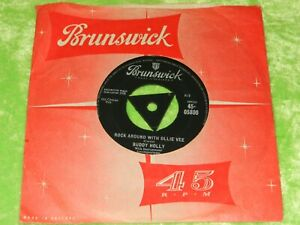 """BUDDY HOLLY : Rock around with Ollie Vee - Orig 1959 UK tri-centre 7"""" VG/EX 219"""