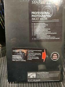 """Marrutt professional photographic inkjet Pro Photo Gloss 265gsm 5x7"""" x 100 sheet"""