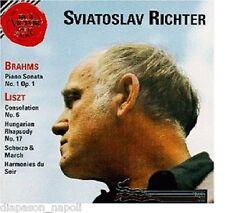 Brahms: Sonata N.1; Liszt Consolazione N.6, Rapsodia N.17 Sviatoslav Richter CD