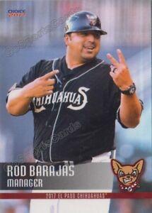 2017 El Paso Chihuahuas Rod Barajas MGR San Diego Padres